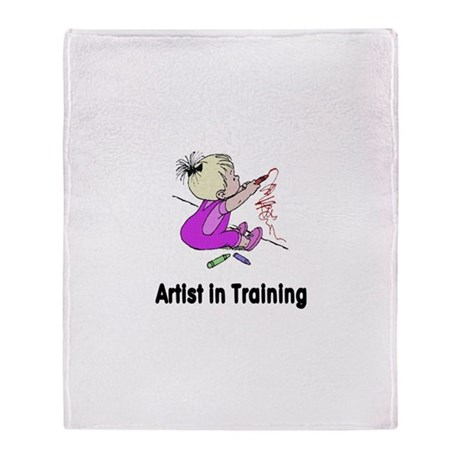 Artist in Training Throw Blanket