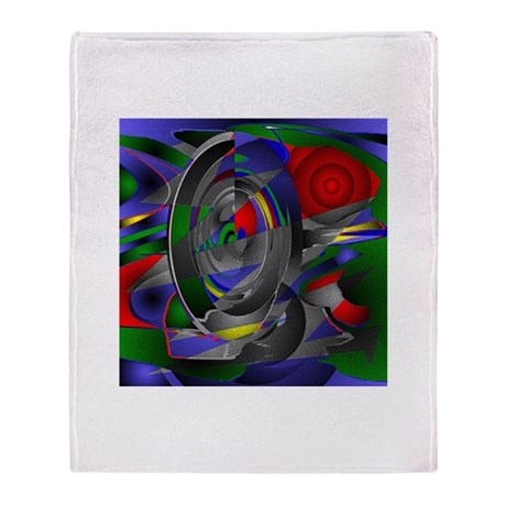 Abstract 002a Throw Blanket