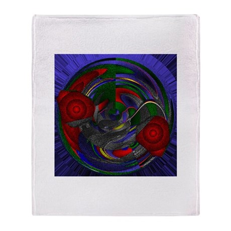 Abstract 005 Throw Blanket