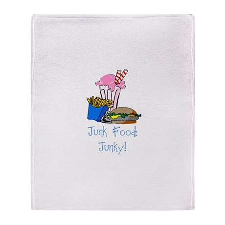 Junk Food Junky Throw Blanket