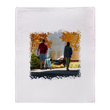 Early Autumn Stroll Throw Blanket