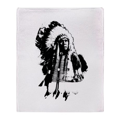 Indian Chief Throw Blanket