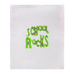 School Rocks - Lime Throw Blanket
