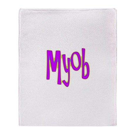 MYOB Throw Blanket