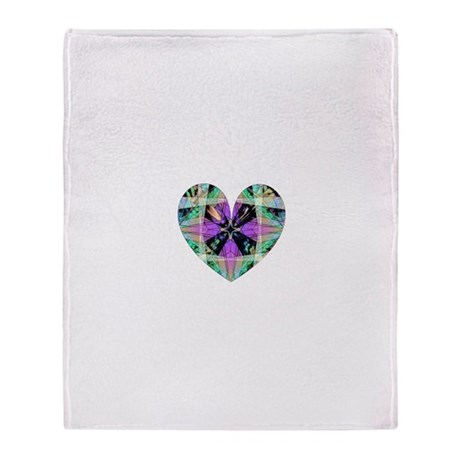 Kaleidoscope Heart Throw Blanket