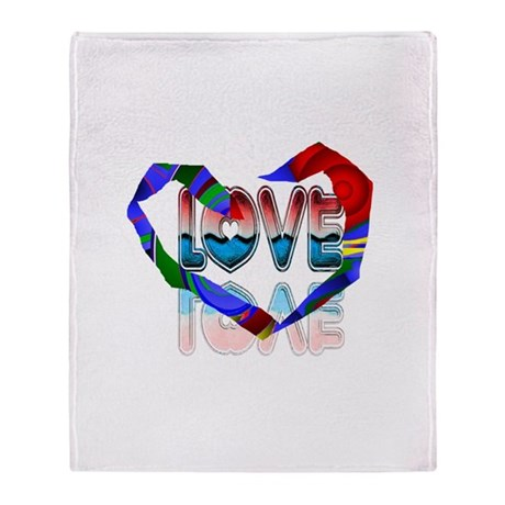Abstract Love Heart Throw Blanket