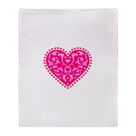 Fancy Heart Throw Blanket