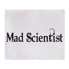 Mad Scientist Throw Blanket