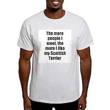 Scottish Terrier Ash Grey T-Shirt
