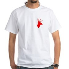 Bright Red Deer Silhouette Shirt