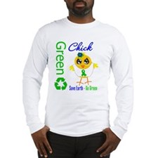 Save Earth Go Green Chick Long Sleeve T-Shirt