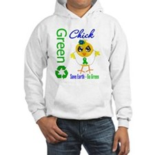 Save Earth Go Green Chick Hoodie