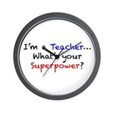 Teacher Superpower Wall Clock