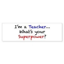 Teacher Superpower Car Sticker
