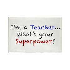 Teacher Superpower Rectangle Magnet