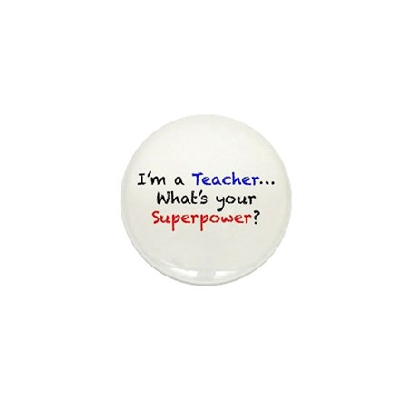 Teacher Superpower Mini Button (100 pack)