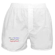 Teacher Superpower Boxer Shorts