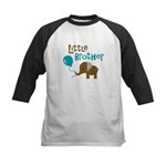 Little Brother - Mod Elephant Kids Baseball Jersey