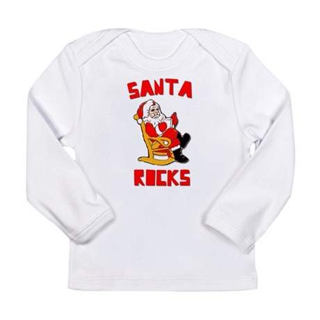 Santa Rocks Long Sleeve Infant T-Shirt