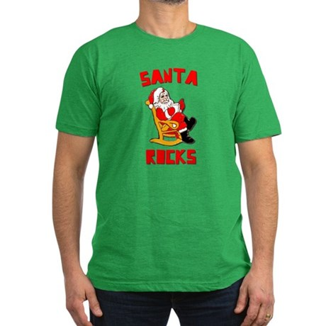 Santa Rocks Mens Fitted Dark T-Shirt