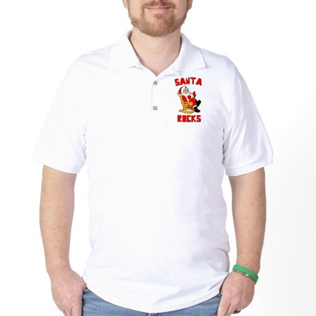 Santa Rocks Golf Shirt