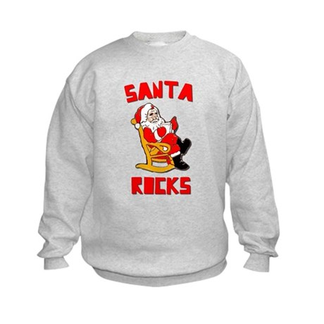 Santa Rocks Kids Sweatshirt