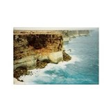Great Australian Bight Cliffs Rectangle Magnet