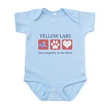 Yellow Lab Pawprints Infant Bodysuit