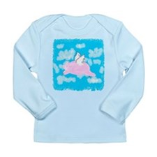 Flying Pig Long Sleeve Infant T-Shirt