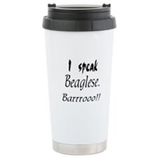 Funny Beagle Bark Ceramic Travel Mug