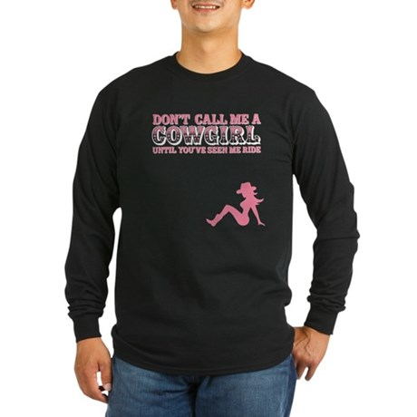 Cowgirl Long Sleeve Dark T-Shirt
