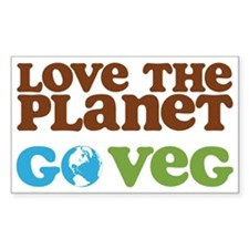 Love the Planet Go Veg Decal