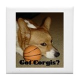 Welsh Corgi Basketball Tile Coaster
