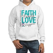 Thyroid Cancer Faith Family Hoodie
