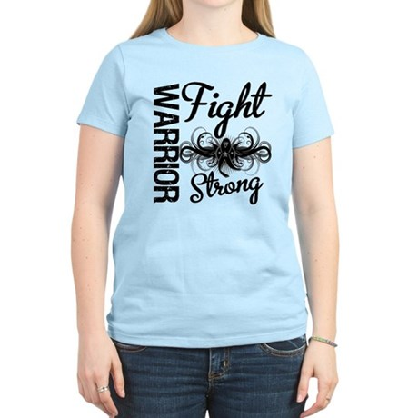 Warrior Skin Cancer Women's Light T-Shirt
