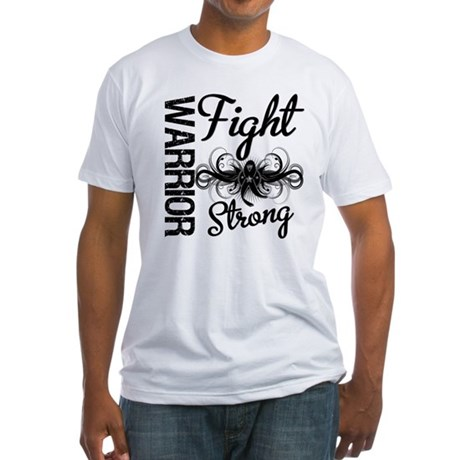 Warrior Skin Cancer Fitted T-Shirt