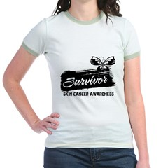 Skin Cancer Survivor Jr. Ringer T-Shirt