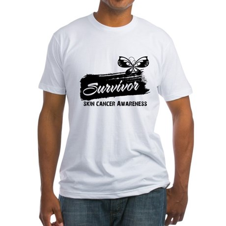 Skin Cancer Survivor Fitted T-Shirt