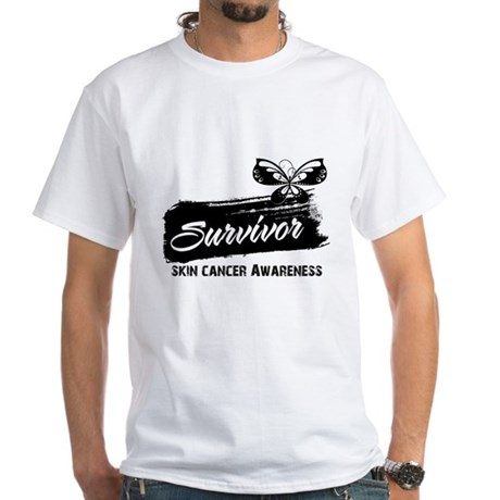 Skin Cancer Survivor White T-Shirt