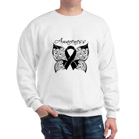 Skin Cancer Butterfly Sweatshirt