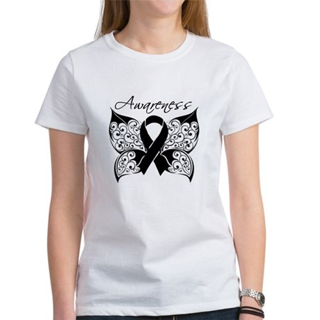 Skin Cancer Butterfly Women's T-Shirt