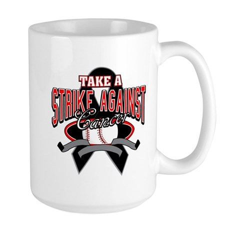 Take a Strike Skin Cancer Large Mug