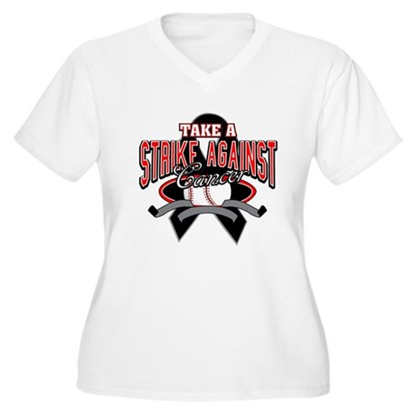 Take a Strike Skin Cancer Women's Plus Size V-Neck