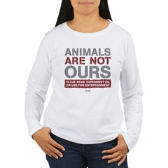 Animals Are Not Ours Women's Long Sleeve T-Shirt
