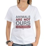 Animals Are Not Ours Women's V-Neck T-Shirt
