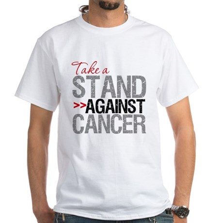 Take a Stand Against Cancer White T-Shirt