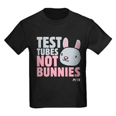 Test Tubes Not Bunnies Kids Dark T-Shirt