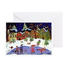 Folk Art Holiday Fun Greeting Cards (Pk of 20)