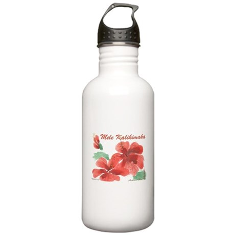 Hawaiian Hibiscus Stainless Water Bottle 1.0L