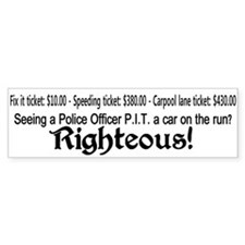 Car on the run. Bumper Sticker